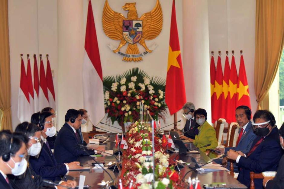 Presiden Joko Widodo Gelar Pertemuan Bilateral dengan PM Vietnam Pham Minh Chinh-0