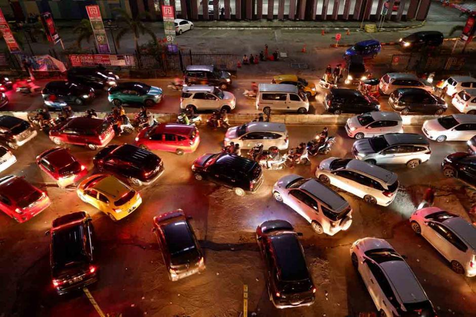 Kemacetan di Kota Makassar Jelang Hari Lebaran-0