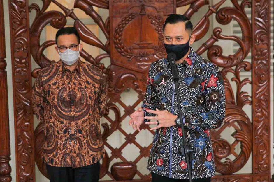 Bahas Kondisi Jakarta dan Indonesia Terkini, AHY Sambangi Anies di Balai Kota-1