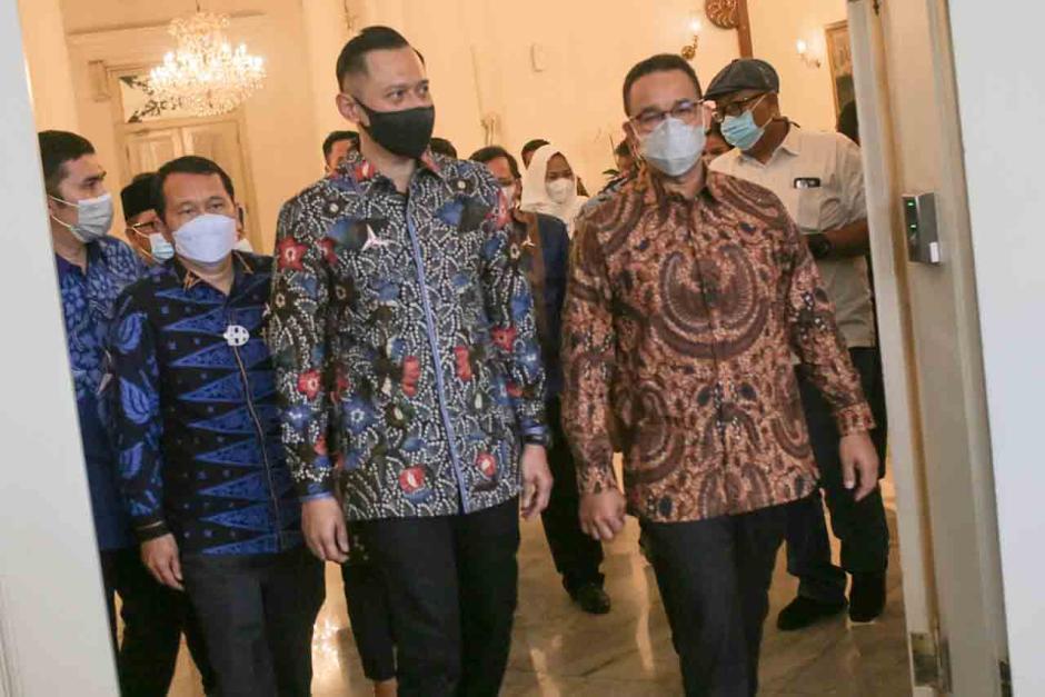 Bahas Kondisi Jakarta dan Indonesia Terkini, AHY Sambangi Anies di Balai Kota-0