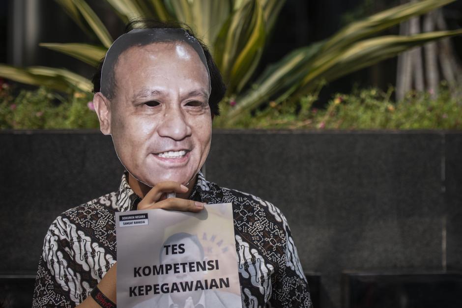 Aksi Koalisi Masyarakat Sipil Antikorupsi-2