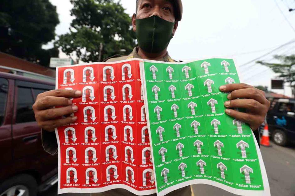 Penyekatan Mudik di Parung Bogor Berlangsung Ketat-2