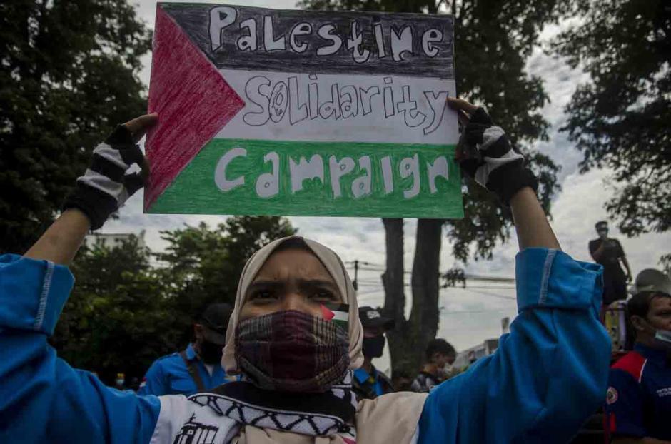 Aksi Buruh Dukung Palestina di Bandung-2