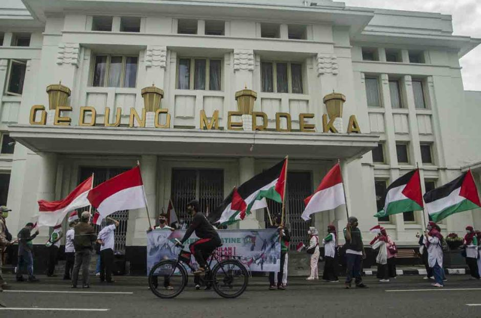 Aksi Buruh Dukung Palestina di Bandung-1