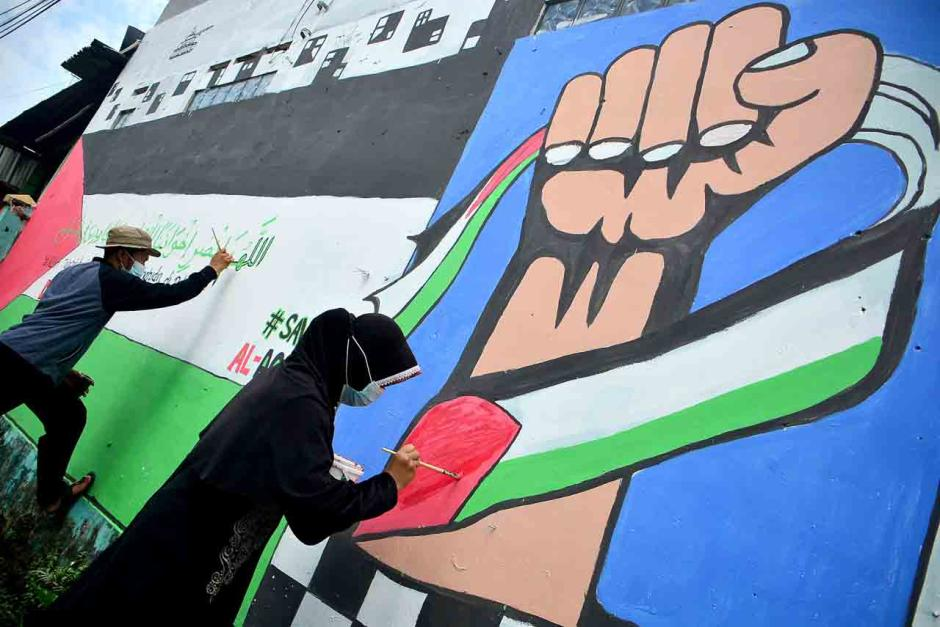 Dukung Palestina Lewat Mural-3