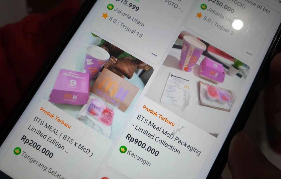 Dijual Hingga Rp900 Ribu, Kemasan Bekas BTS Meal Menjamur di Marketplace-0