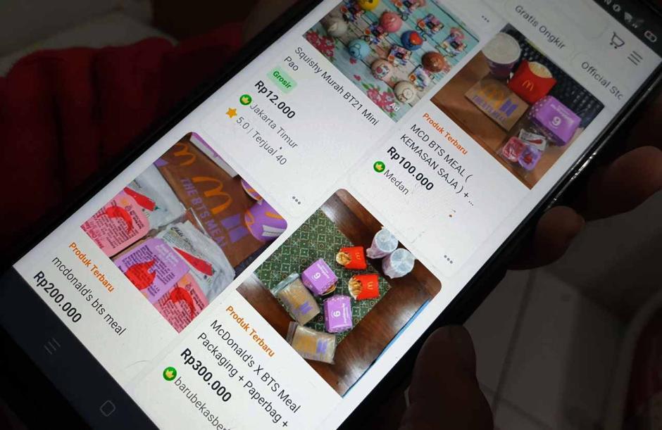 Dijual Hingga Rp900 Ribu, Kemasan Bekas BTS Meal Menjamur di Marketplace-1