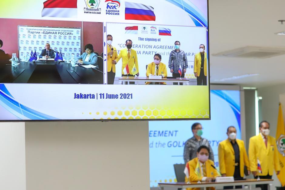 Kerjasama Golkar dengan Partai Presiden Rusia Vladimir Putin-3