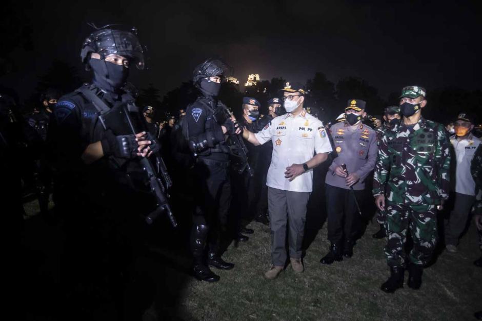 Kasus Covid-19 Jakarta Kembali Tinggi, Anies Gelar Apel Penegakan Pendisiplinan PPLM Skala Mikro-4