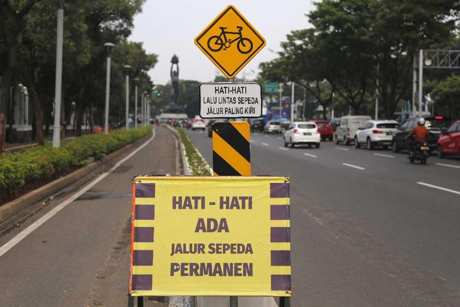 Jalur Sepeda Permanen Sudirman-Thamrin Bakal Dibongkar-4