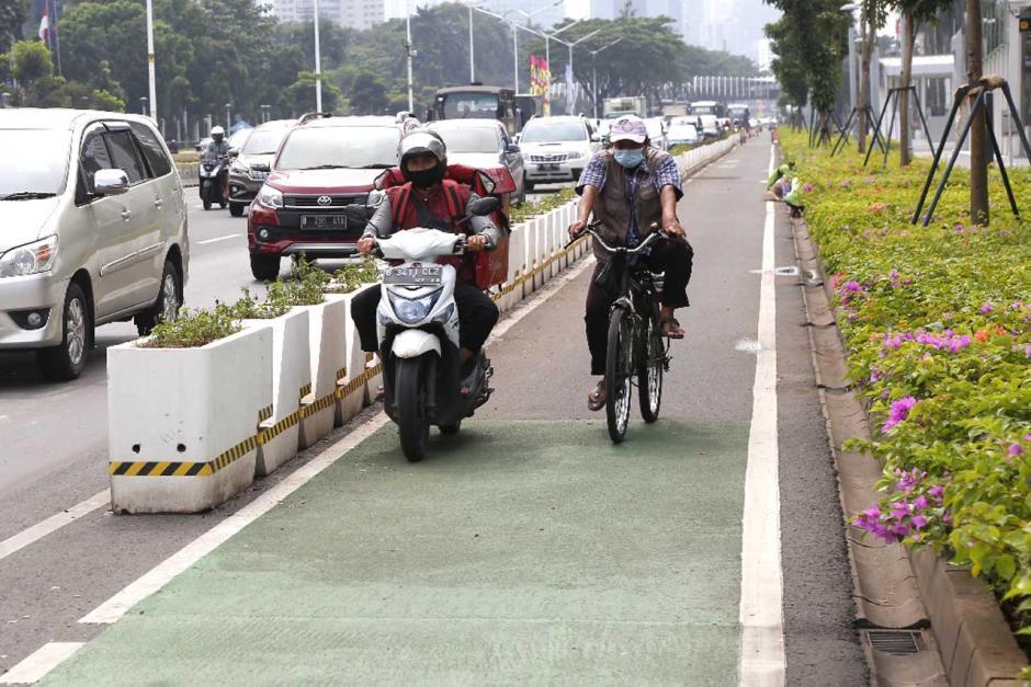 Jalur Sepeda Permanen Sudirman-Thamrin Bakal Dibongkar-2