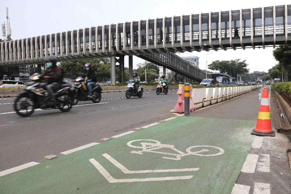 Jalur Sepeda Permanen Sudirman-Thamrin Bakal Dibongkar-3