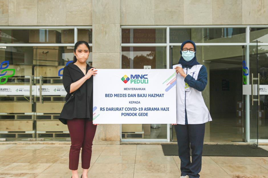 MNC Peduli Salurkan Medical Bed dan Hazmat untuk RS Extensi RSPJ Asrama Haji Jakarta-0