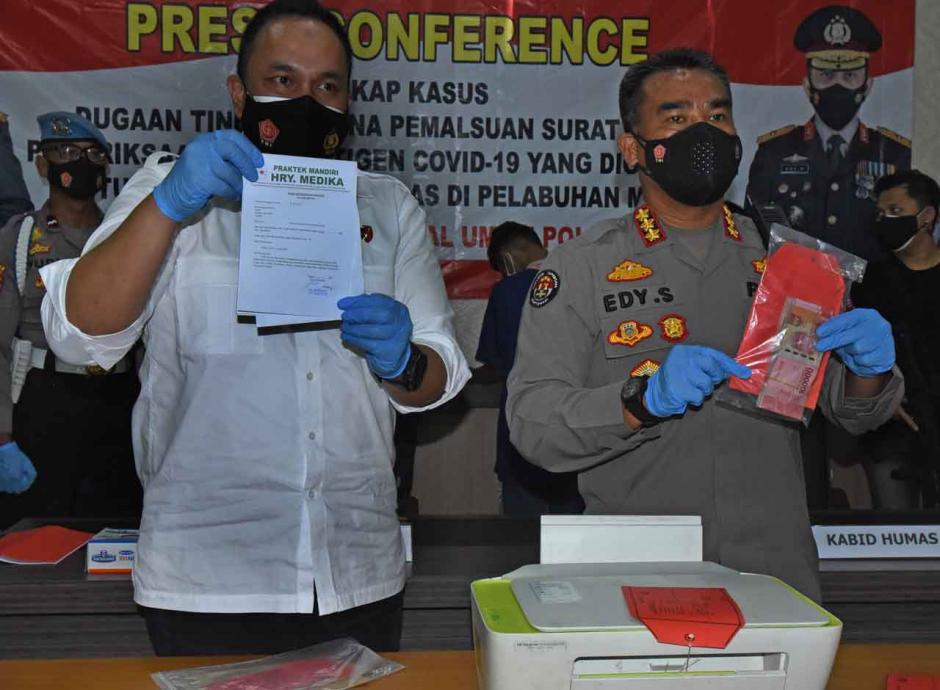 Polisi Ungkap Pemalsuan Surat Hasil Tes Antigen Covid-19-0
