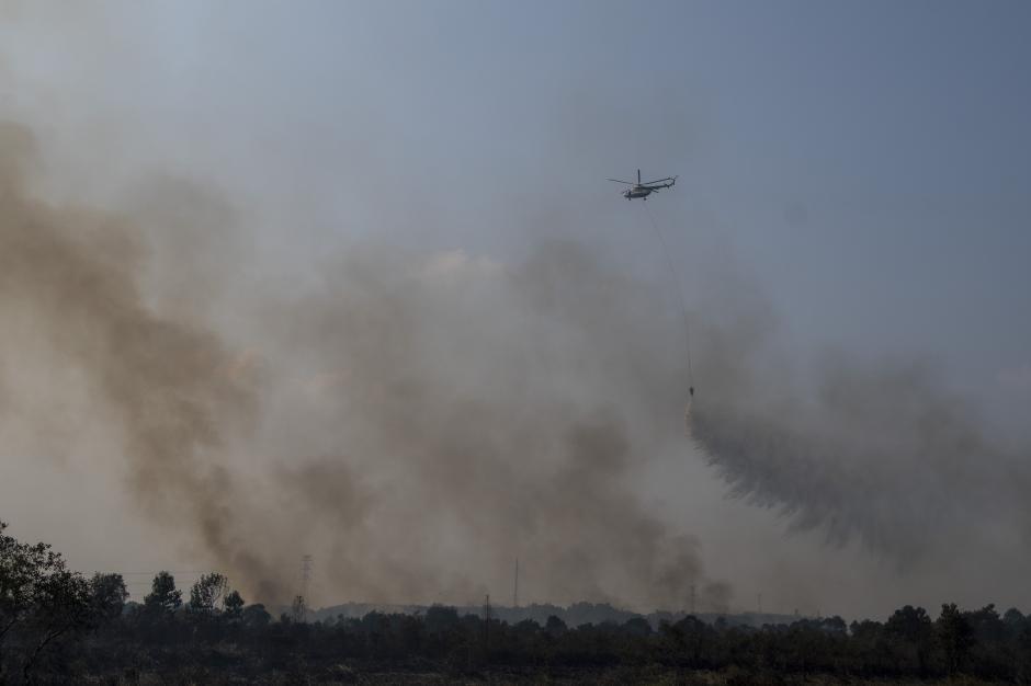 Upaya Pemadaman Kebakaran Lahan di Indralaya Utara-0