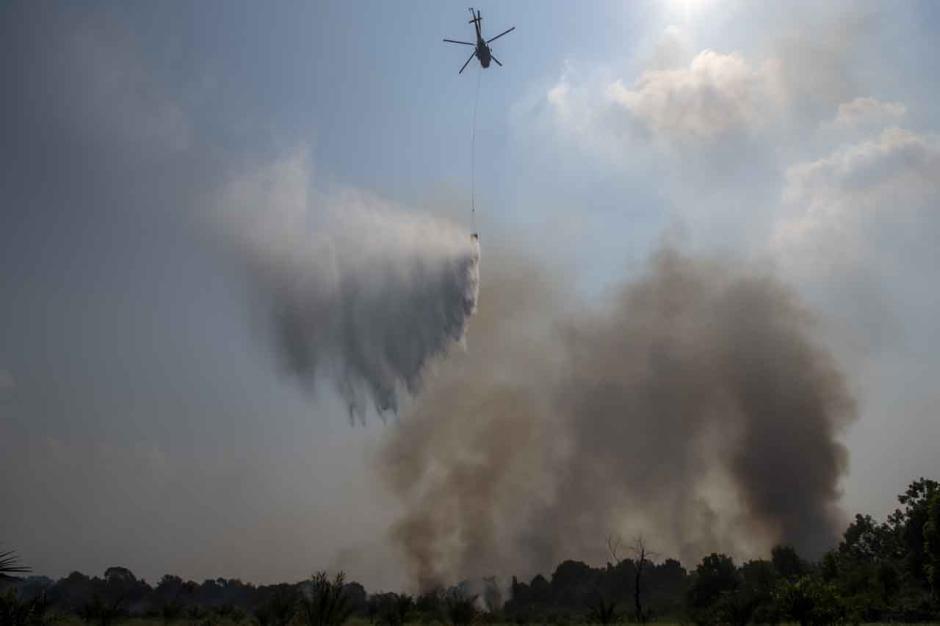 Upaya Pemadaman Kebakaran Lahan di Indralaya Utara-2