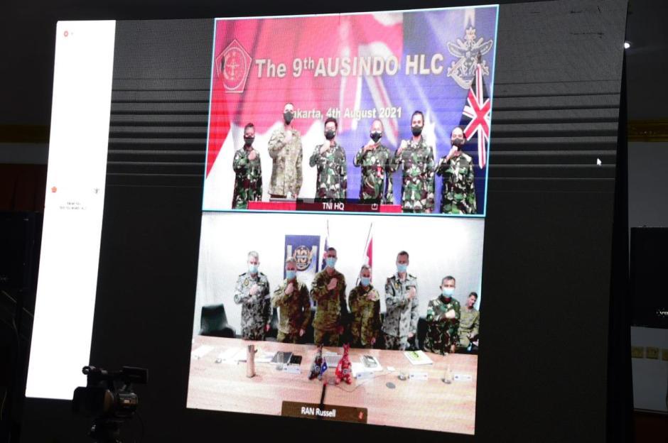 Panglima TNI dan CDF Australia Pimpin Sidang ke-9 Ausindo HLC 2021-2