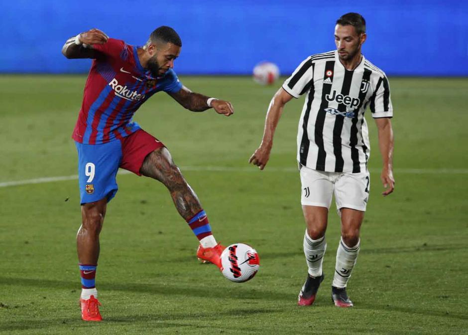 Barcelona Jinakkan Juventus di Trofi Joan Gamper, Memphis Depay Cetak Gol Lagi-0