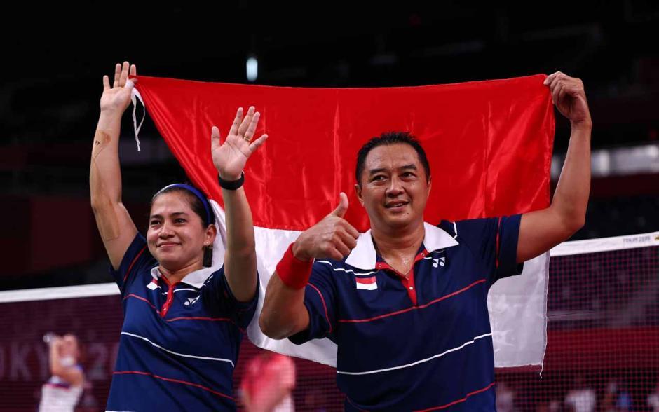 Bikin Bangga, Ini Potret Kemenangan Hary/Leani Rebut Emas Para Bulu Tangkis Paralimpiade Tokyo 2020-3